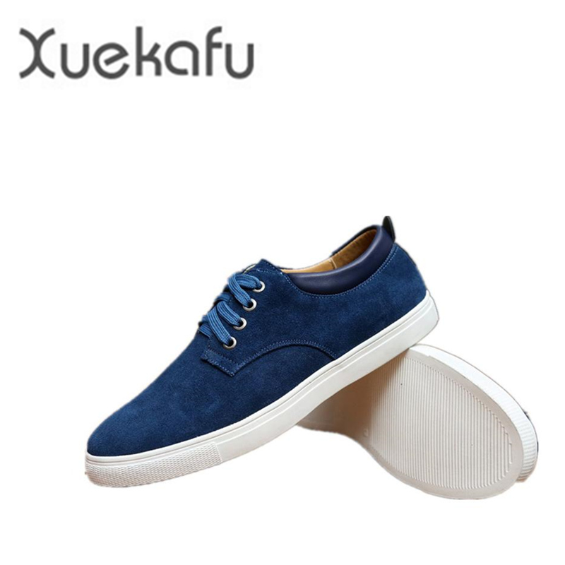 2017 New fashion spring suede shoes men lace up solid tenis feminino mens shoes casual leather