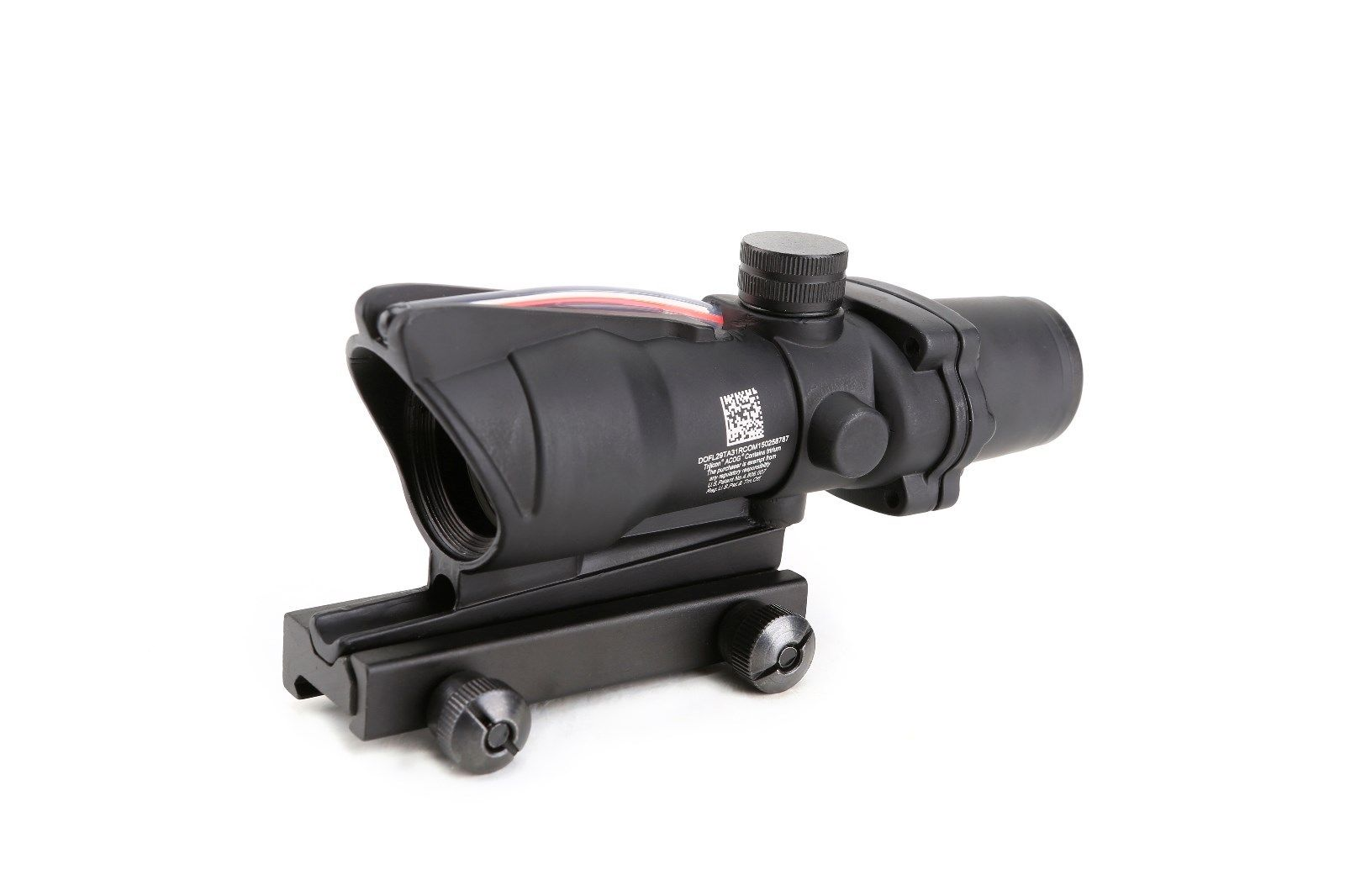 magorui caca acog 4x32 red dot rifle scope visao fibra optica vermelho iluminado