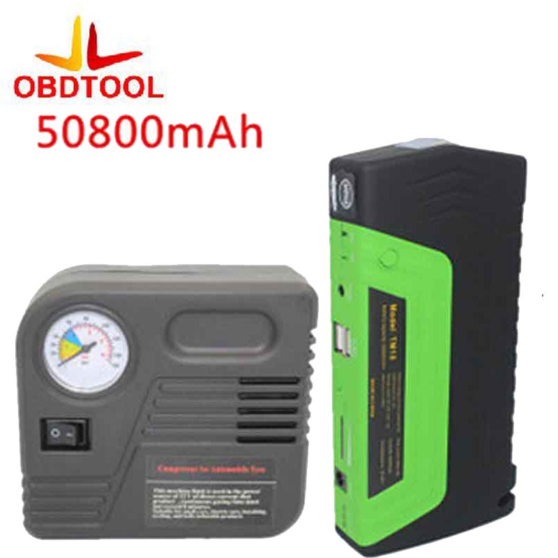 Green Super Function Mobile Auto Emergency Power Power Bank 50800 MAh Car Power Jump Starter Air Pump Safety Hammer Usb стоимость