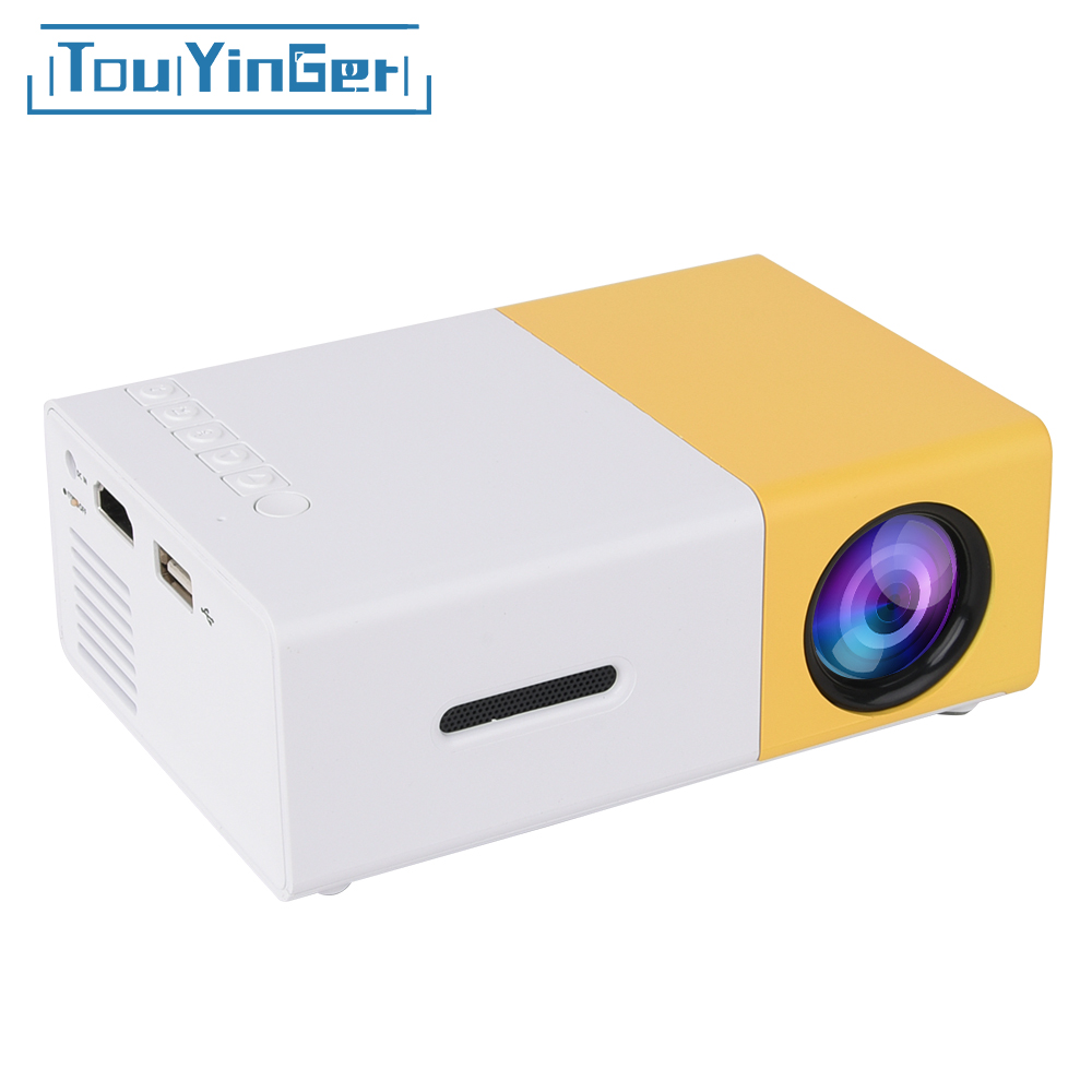 Touyinger YG-300 yg 300 Mini Portable Pocket LED Projector Beamer YG300 YG310 LCD Video Proyector Gift For Kids HDMI / SD / USB цены онлайн