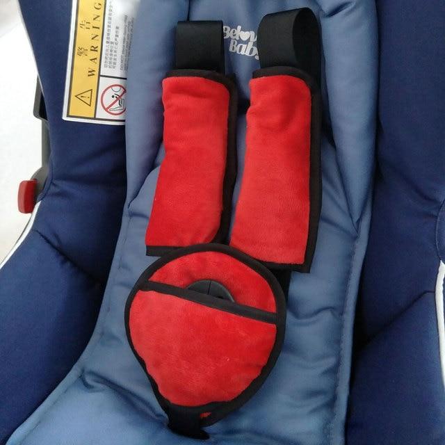Baby Kids Stroller Car Seat Safety Belt Shoulder Strap Cover Protective Set Accessoried