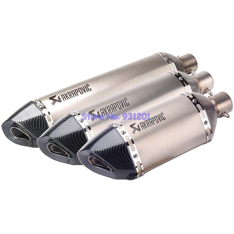Longueur 570mm/470mm/370mm entrée 51mm Akrapovic tuyau d'échappement moto silencieux d'échappement universel moto silencieux d'échappement