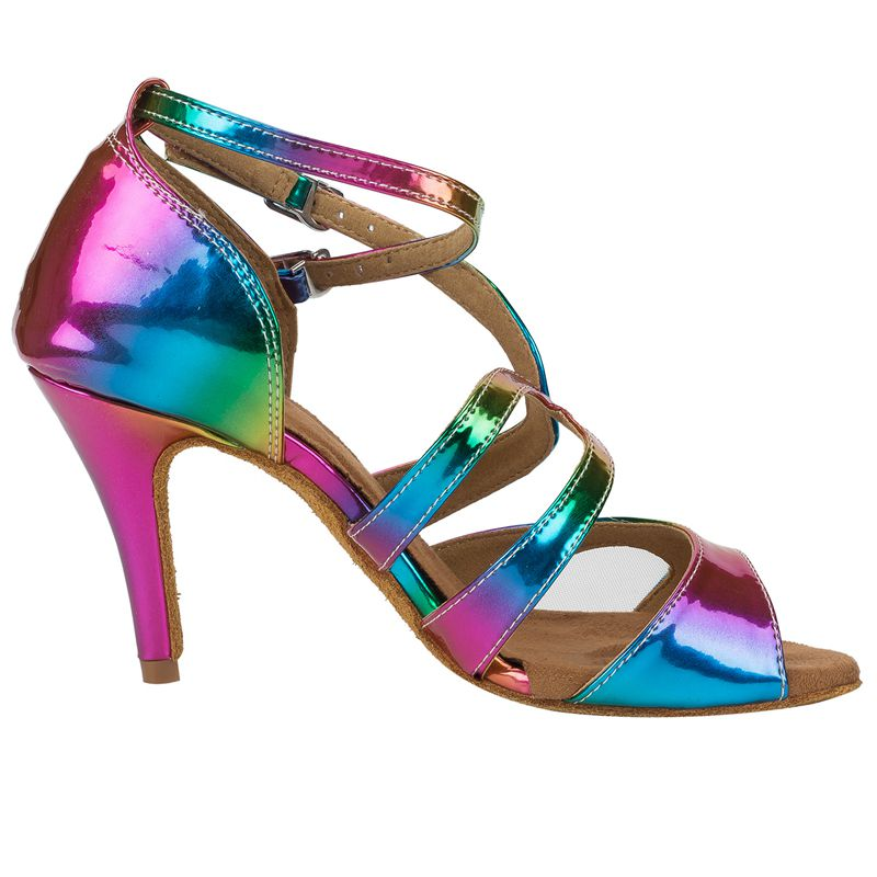 f3748a706630 HXYOO 2018 New Arrived Glitter Rainbow Colorful Salsa Dance Shoes Women  Latin Ballroom Sandal Tango Dance Ladies Soft Sole WK023-in Dance shoes  from Sports ...