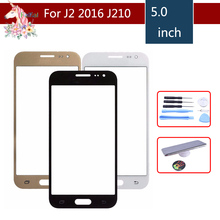 10pcs/lot For Samsung Galaxy J2 2016 J210 J210F J210M J210Y J210FN Touch Screen Front Panel Glass Lens Outer LCD Glass все цены