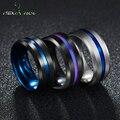 Nextvance Трендовое кольцо из нержавеющей стали 8 мм черного и синего цвета с канавкой для мужчин, обручальные кольца с радужными кольцами, мужск...