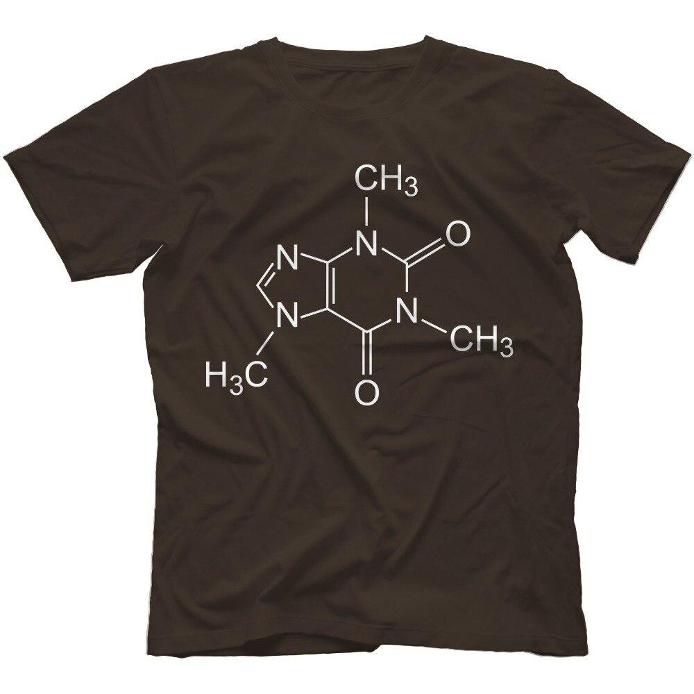 The Big Bang Theory Inspired Coffee Molecule 100% Cotton T-Shirt Adult Mens T Shirt camisetas Summer Shirts USA Size S-3XL