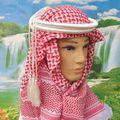 Frete grátis Hijab Muçulmano Tático shemagh Árabe Keffiyeh Árabe tactical scarf véu Islâmico + Agal 62905