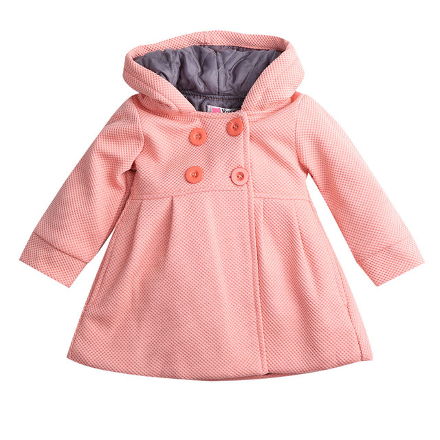 d96c0a309c81 Toddler kid Fall Winter Horn Button Hooded Baby Girl Winter Warm ...