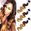 7A brasileiro Virgin cabelo onda do corpo 3 pacotes T1B / 4 / 27 Ombre Bundles rainha do cabelo brasileiro da onda do corpo barato cabelo Weave 3 Pcs Bundles