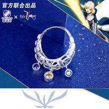 [Il destino di Zero] Sciabola Anello in argento sterling 925 Collana Anime Emiya Kiritsugu FGO Action Figure Fate Grande Ordine Cosplay regalo