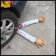 2016 Funny Scary Broken Feet Blood Horror Broken Hand Halloween Decoration Severed Latex Bloody Fake Feet Novelty Halloween Prop