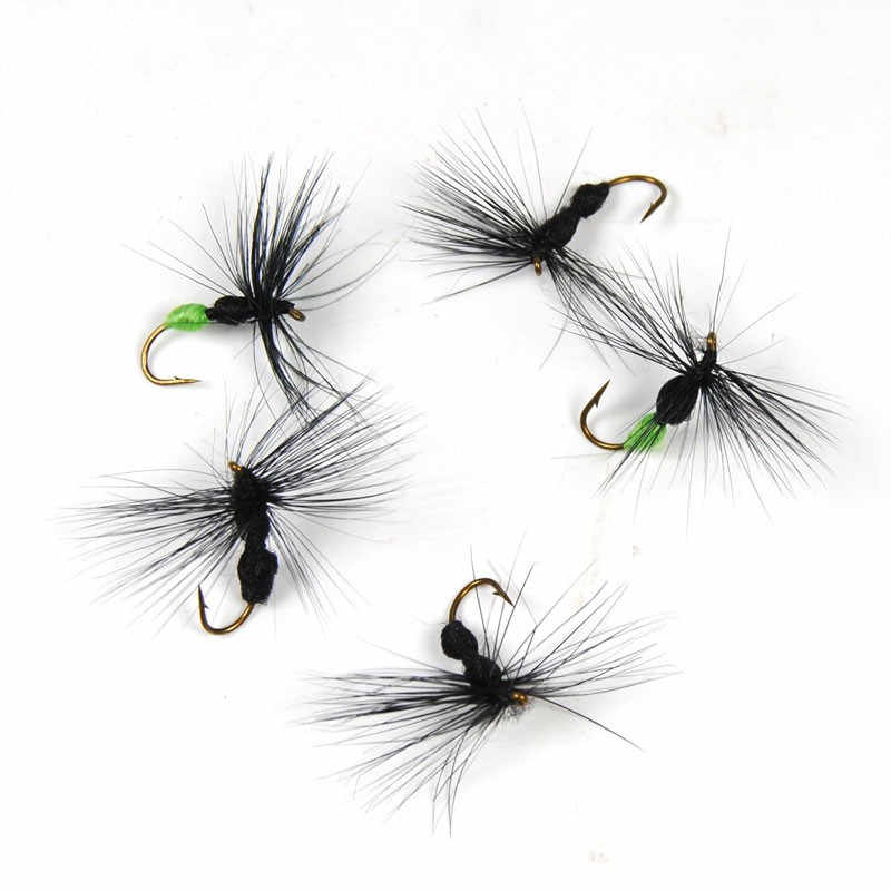 10 PCS/lot  Ant Shape Fly Artificial Bait Black & Green Butt Ants for Trout Fly Fishing Lure