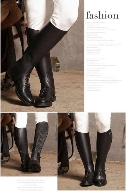 Equestrian Riding Leather Half Chaps  2