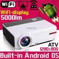 Большие скидки Смарт Домашнего Кинотеатра 1080 P TV Видео HDMI ЖК-Видео fuLL HD LED Android Wi-Fi Проектор Projetor Proyector проектор