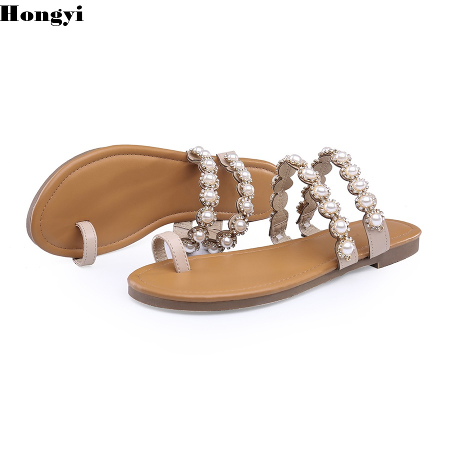 Newest sexy Bling Bling Crystal Sandals Gladiator Rhinestone flat Sandals Jeweled women Beach Shoes Summer Flats