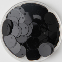 1000pcs/lot 12mm Large Round Sequins PVC Flat Round Sewing Embellishment DIY With Side Hole Craft Accessory Black Confetti
