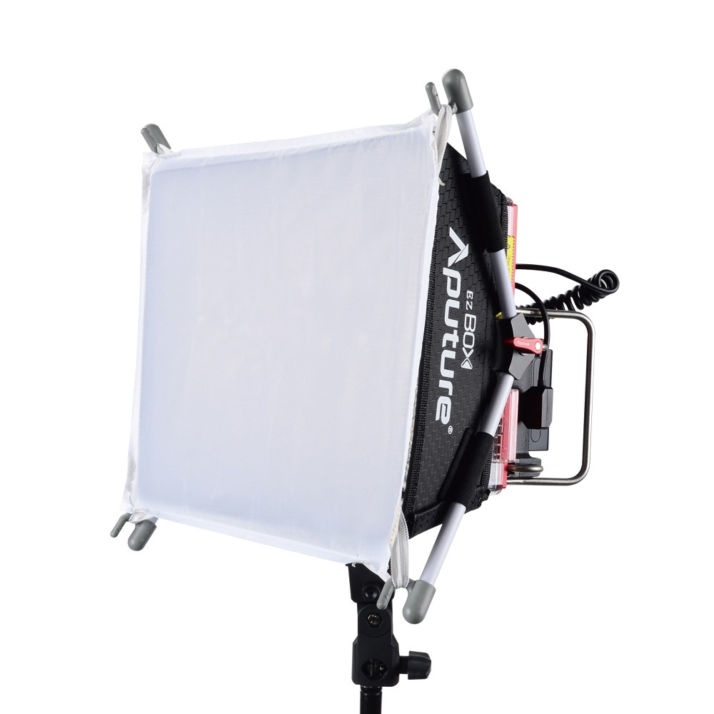 DHL Aputure Amaran Tri-8C Bi-Color Dimmable Led Video Light Panel with EZ Box Diffuser Kit Two Batteries 2.4G Remote Controllers