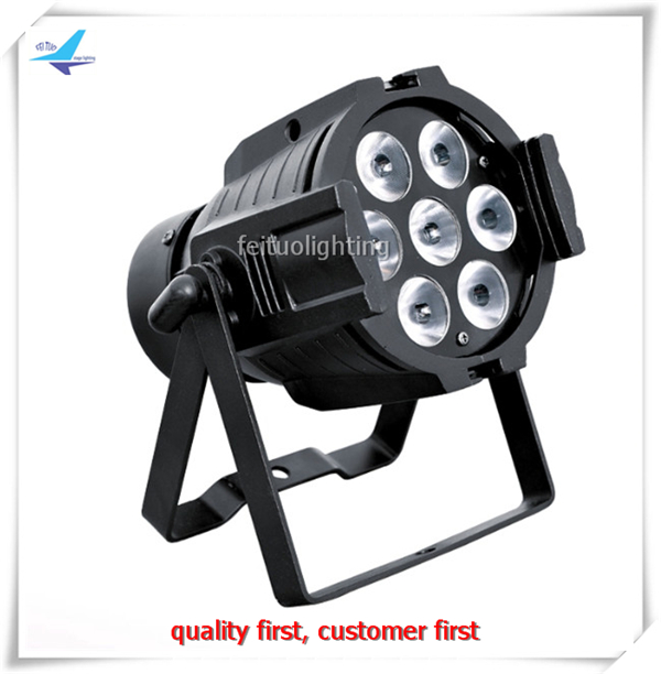 free shipping 6pcs/lot LED DJ Lighting7x18w Mini DMX Par 64 Stage Par Light RGBWA UV 6IN1 Sound Active Beam Strobe Party Par Can