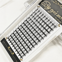 Big Eye Secret 10P W Fans Individual Eyelash Extension Premade Flase Lashes 10D Volume Eyelashes Free Shipping