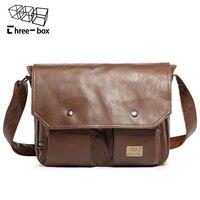 Three Box Famous Brand Casual Men Crossbody Bags For Men Business Handbag Vintag Leather Shoulder Messenger Bag Male Travel bags