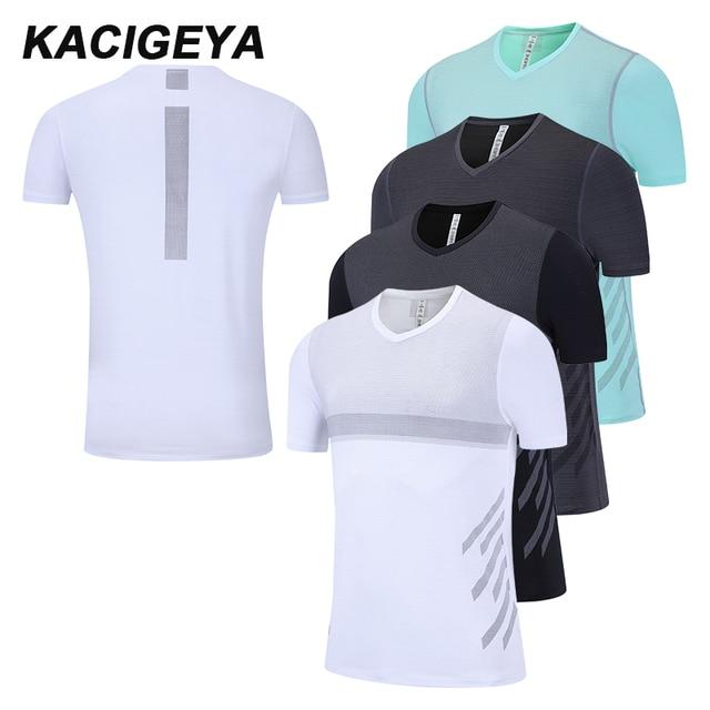 GymTraining חולצות יבש Fit גברים דחיסת חולצה סגנון קצר שרוול כושר מאיו ריצה Homme ספורט Kostium גרביונים גברים