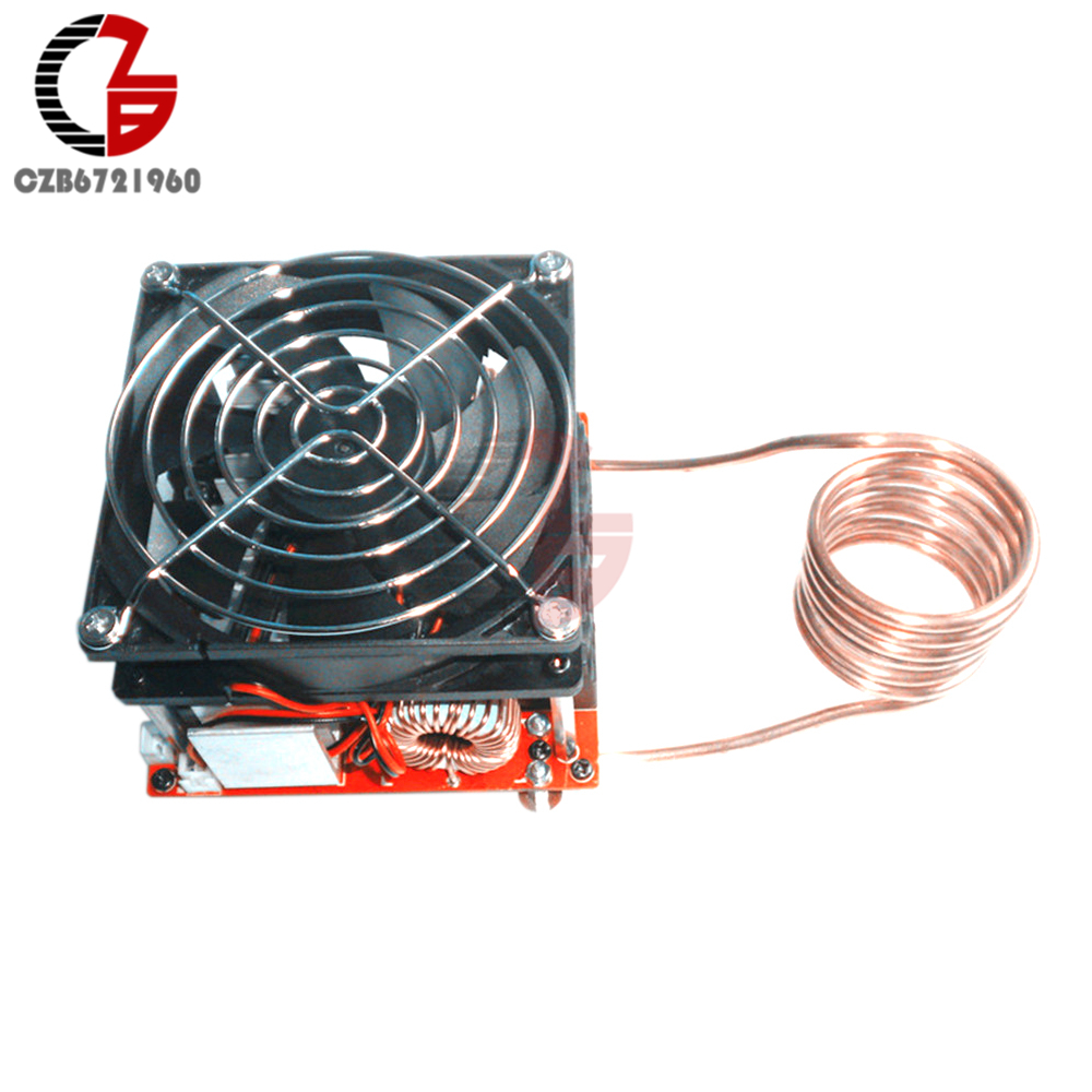 DC 24V 36V 20A ZVS Induction Heating Board Module Flyback Driver Heater Cooker with Ignition Coil Fan Electronics DIY Kit dc12 36v 20a 1000w zvs induction heating module heater with cooling fan copper tube