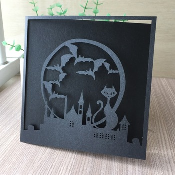 20Pcs 2019 Halloween Decoration Ornament Invitations Cards Postcards Invitations Cards Party Decoration Greeting wishes Cards