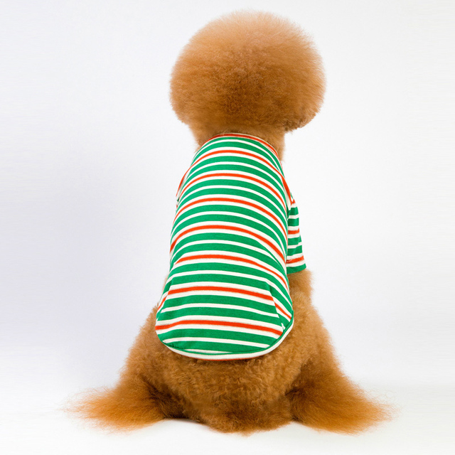 6 Colors Striped Dog Clothes For Dog Shirt Vest Spring Autumn Dogs Pets Clothing For Small Dogs Clothing Pet Outfits Chihuahua 3