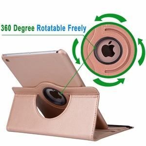 Image 4 - 360 度回転革スマートカバーケースシェルカバーケースアップルの ipad ミニ 4 ミニ 5 2019 7.9 mini4 mini5 A1538 a1550 Coque Funda