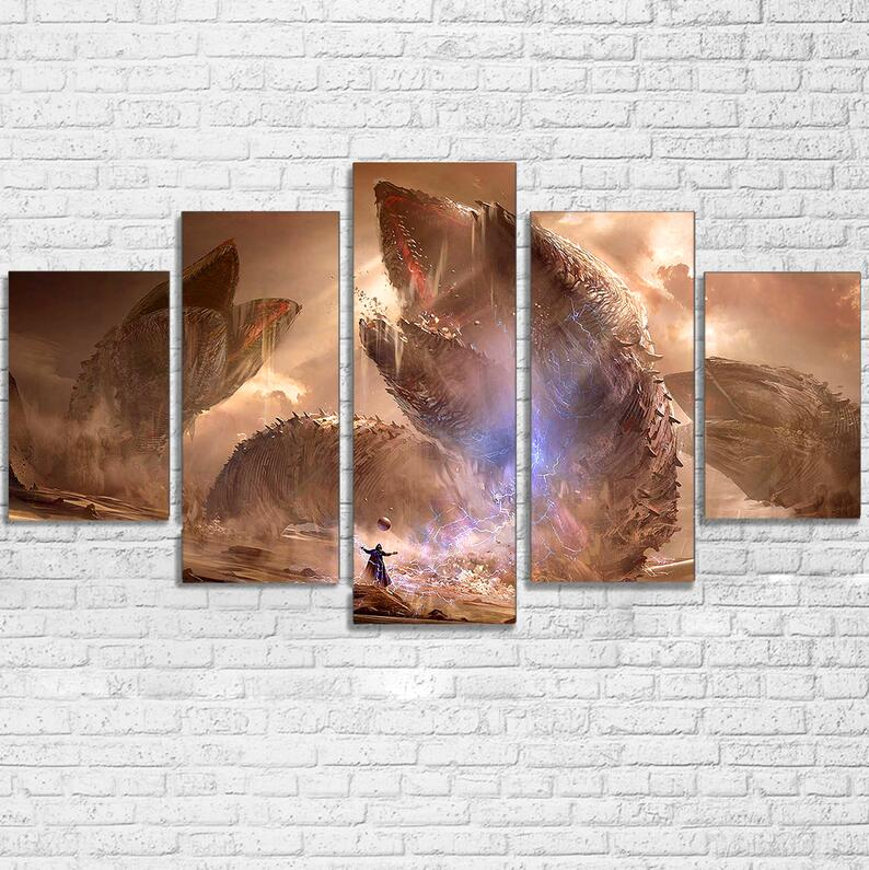 Painting Canvas Wall Art Picture Home Decor Living Room Canvas Print 5 Pieces Movie Cartoon Game