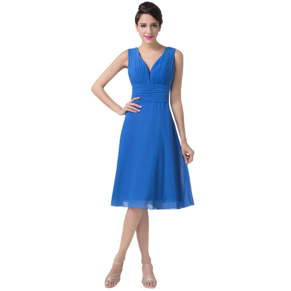 Plus Size Royal Blue Short Dresses