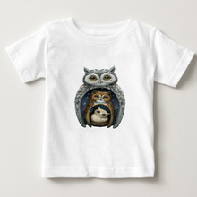 Russian Dolls Owl Children T Shirt 100% Cotton Short Sleeve Round Neck Tshirt Tees Boys Girls 2018 printing T-shirt For Baby  NN