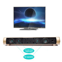 10W TV Soundbar Bluetooth Speakers Wireless Subwoofer Sound bar Home Theater Stereo Super Bass Loudspeaker For TV(China)