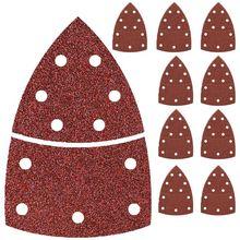 Livraison directe 40 pièces feuilles de papier de verre feuilles de ponçage crochet et boucle 105x152mm 11 trous Grain disque papier de verre 60 240 grains ponçage
