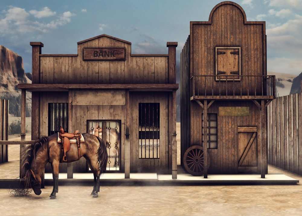8x12 FT Western Vinyl Photography Backdrop,Image Art of Cowboy Riding Horse Towards Sunset in Wild West Desert Hero Background for Photo Backdrop Baby Newborn Photo Studio Props