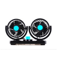12/24V Double headed Car Fan All Round Portable Car Vehicle Truck Air Fan Adjustable Cooler Cooling