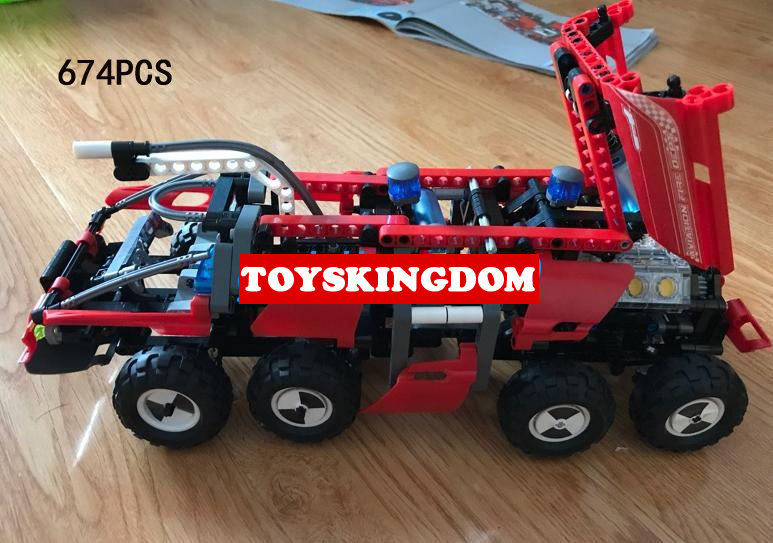 Classic technics airport fires ladder Engine moc building block model bricks toys collection for children gifts hot technician technics extreme adventure 2in1 building block model tracked vehicle bricks 42069 toys collection for kids gifts