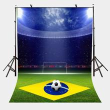 5x7ft Backdrop Bright Football Field Photography Background Studio Props