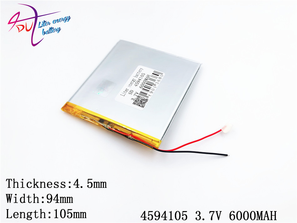 Best Battery Brand 4594105 3.7V 6000mAh Tablet Update Battery For Tablet SmartQ T20 A86 Dual Core P85 U35GT DUAL C