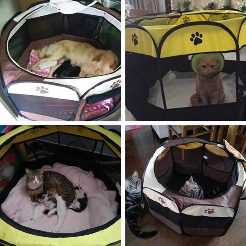 แบบพกพาพับสัตว์เลี้ยงสุนัขเต็นท์สุนัขสัตว์เลี้ยง House Bed ในร่ม Pet Playpen สุนัขพันธุ์กลางแจ้ง Pet Carrier กรงสำหรับสุนัขแมว