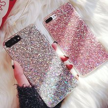Silicone Bling Glitter Crystal Sequins Phone Case for