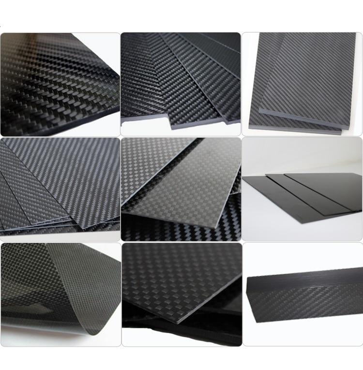 3k Carbon Plate Panel 0.5 1 1.5 2 3 Plain Twill Weave Matt Glossy Surface Full Carbon Fiber Plate Panel Sheet#20/12