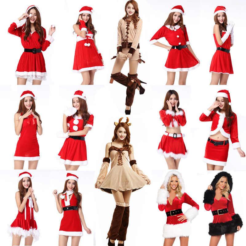 5c13b895e6b Detail Feedback Questions about Women Sexy santa costumes christmas ...