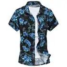 Summer Mens Short Sleeve Beach Hawaiian Shirts Casual Flower Floral Shirts Plus Size 6Xl New Mens Clothing Fashion