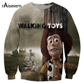 Raisevern 2017 Harajuku Sweatshirt The Walking Toys 3D Print Hoodies Men Women Casual Funny Cartoon Buzz Lightyear Printing Tops