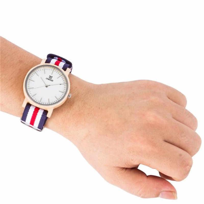 2019 nuevo reloj para hombre, reloj de Arce, correa de nailon, Reloj clásico informal con Multi marca Uwood Japón, reloj de madera envío gratis QC