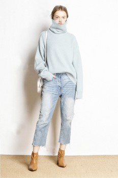 Hot Sale 5Colors Women Pullover and Sweater 100% Cashmere Knitted Jumpers Winter New Fashion Thick Warm Female Clothes Girl Tops 6