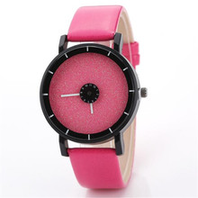 Fashion Casual Watches Men's Women's Leather Candy colored Frosted Quartz Wrist Watches Free shipping
