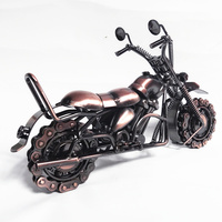 TOP COOL ART Vintage METAL Pure hand Retro iron Classic motorcycle model HOME office BAR RETRO TOP Decor art # M222