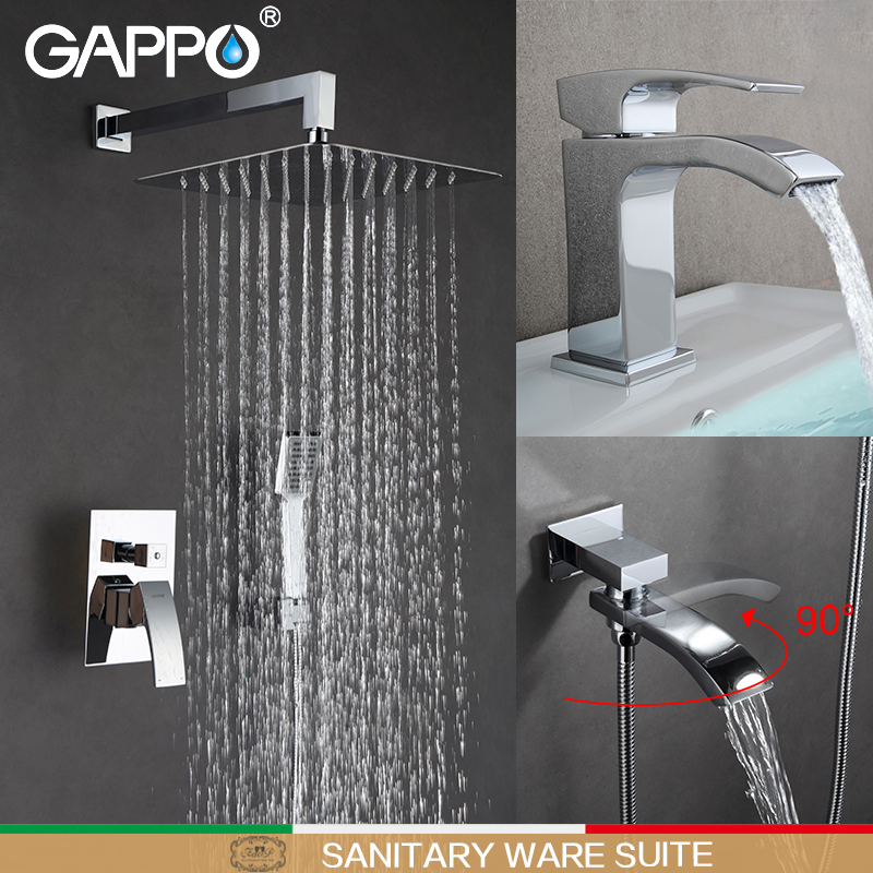 GAPPO Bathtub Faucets bath tub mixer water tap basin faucet water sink faucet basin mixer taps baignoire Sanitary Ware Suite